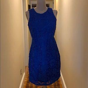 J. Crew Dresses - J Crew Bright Blue Dress 🦋